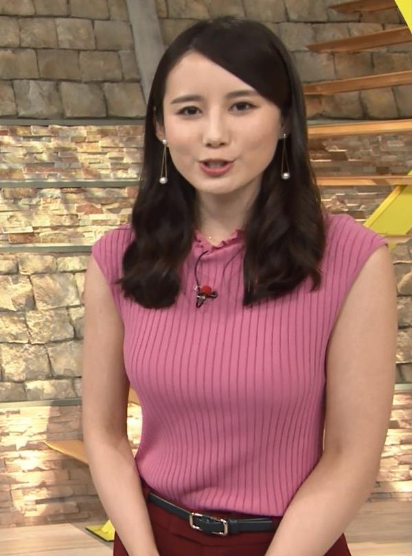 森川夕貴アナ ニット横乳が巨乳化しててエロ過ぎキャプ・エロ画像9