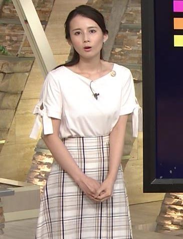 森川夕貴アナ 前かがみで胸元がチラリ!キャプ・エロ画像12