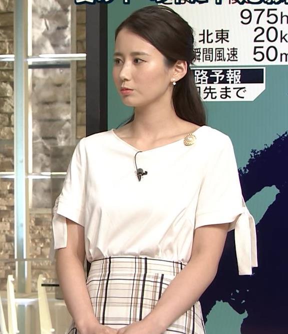 森川夕貴アナ 前かがみで胸元がチラリ!キャプ・エロ画像7