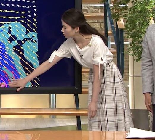 森川夕貴アナ 前かがみで胸元がチラリ!キャプ・エロ画像9