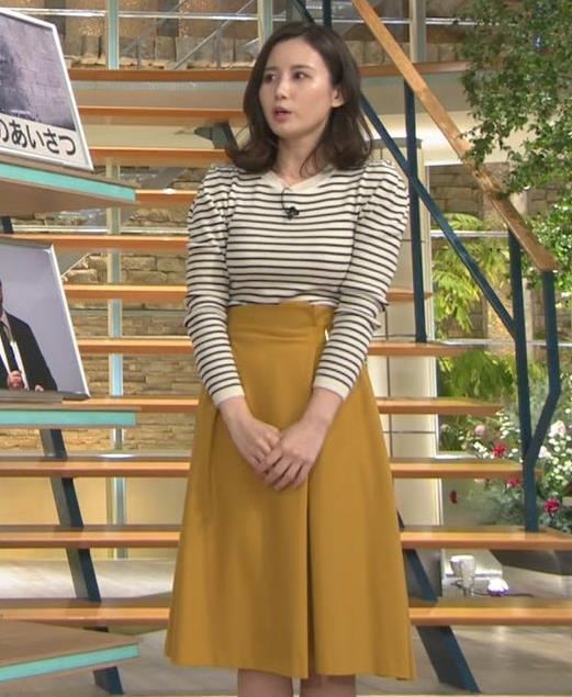 森川夕貴アナ 横縞シャツでおっぱいのラインが露わに!キャプ・エロ画像3