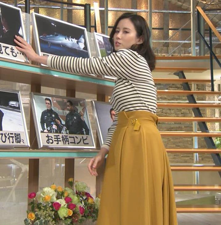 森川夕貴アナ 横縞シャツでおっぱいのラインが露わに!キャプ・エロ画像4