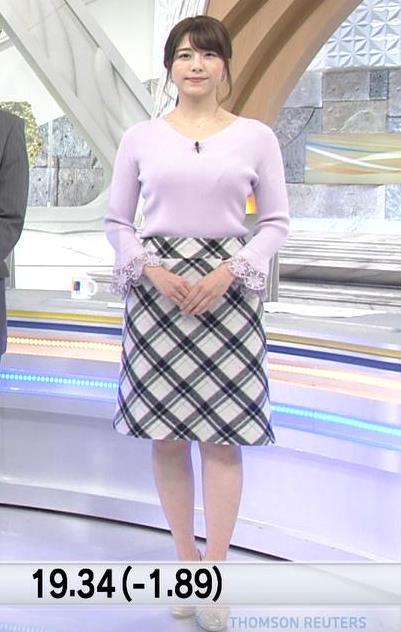 森山るりアナ ニットおっぱい♥キャプ・エロ画像2