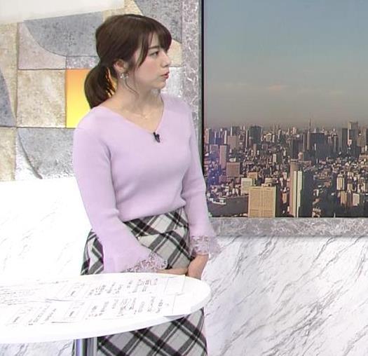 森山るりアナ ニットおっぱい♥キャプ・エロ画像4