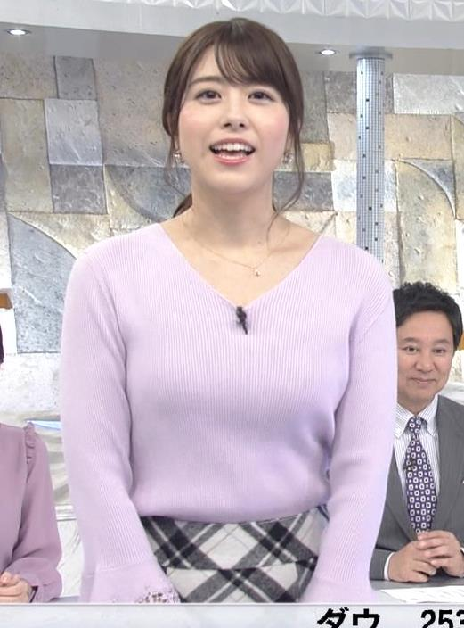 森山るりアナ ニットおっぱい♥キャプ・エロ画像5