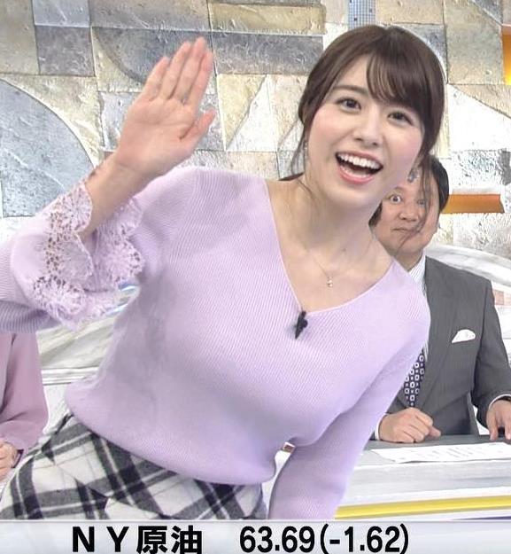 森山るりアナ ニットおっぱい♥キャプ・エロ画像6