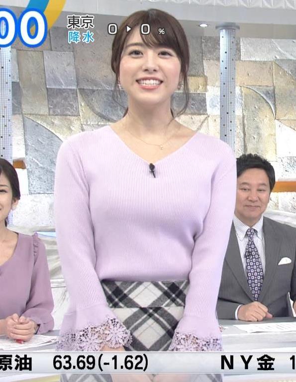 森山るりアナ ニットおっぱい♥キャプ・エロ画像7