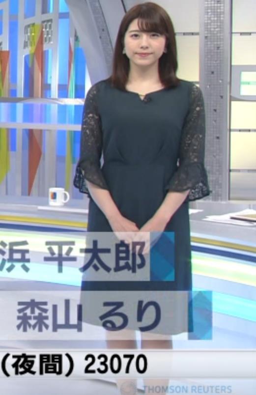 森山るりアナ 横乳&プリケツキャプ・エロ画像5