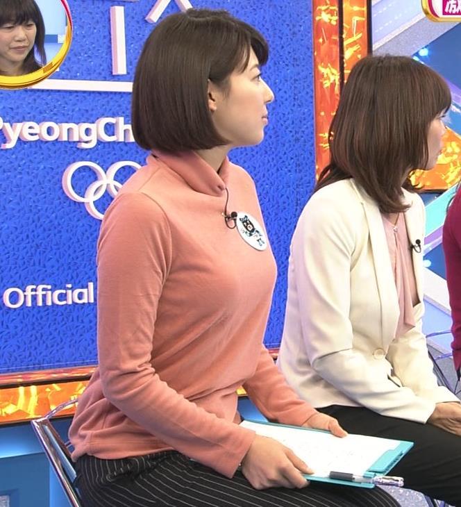 上村彩子アナ 胸のふくらみがエロ過ぎ!!キャプ・エロ画像