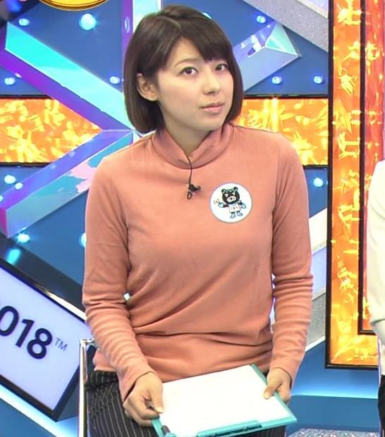 上村彩子アナ 胸のふくらみがエロ過ぎ!!キャプ・エロ画像2