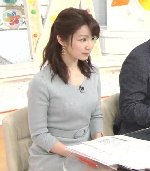 長野美郷アナ 胸のふくらみがいい感じのニットおっぱい♡キャプ・エロ画像14