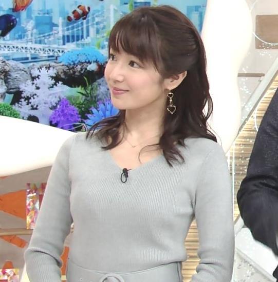 長野美郷アナ 胸のふくらみがいい感じのニットおっぱい♡キャプ・エロ画像6