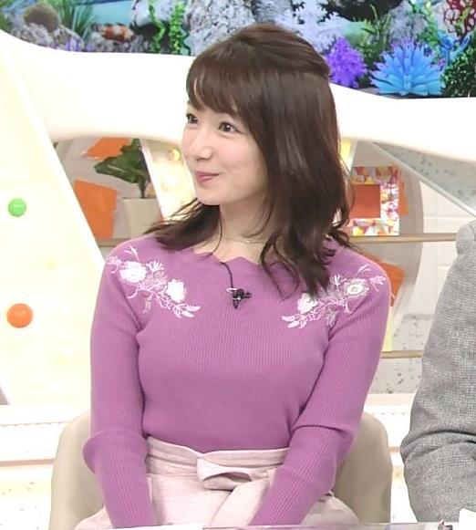 長野美郷 ニット乳(めざましどようび)キャプ・エロ画像
