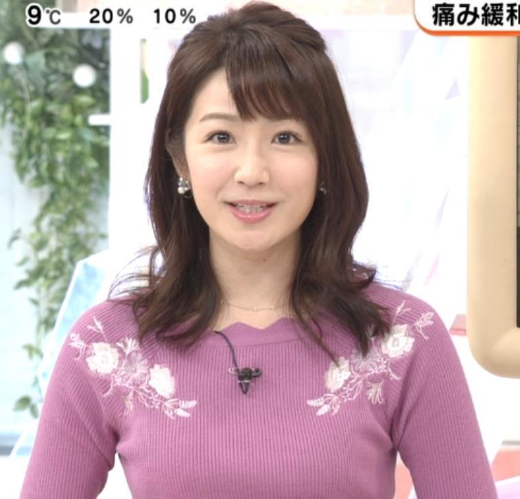 長野美郷 ニット乳(めざましどようび)キャプ・エロ画像5