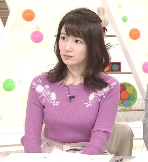 長野美郷 ニット乳(めざましどようび)キャプ・エロ画像8
