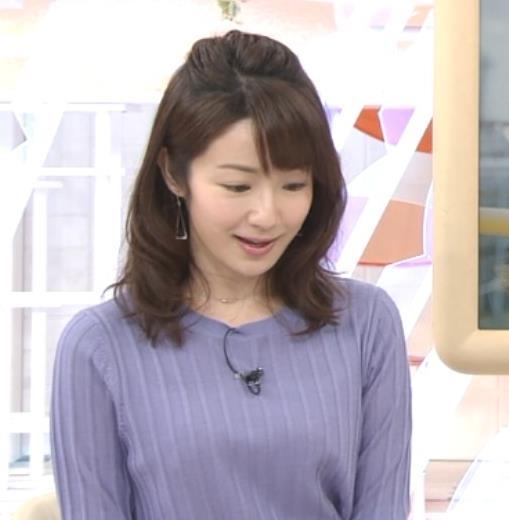 長野美郷アナ 紫のニットキャプ・エロ画像3