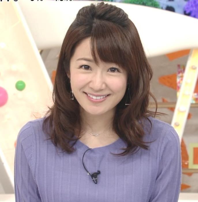長野美郷アナ 紫のニットキャプ・エロ画像5