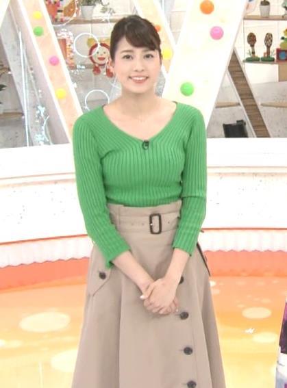 永島優美アナ ニットデカ乳キャプ・エロ画像