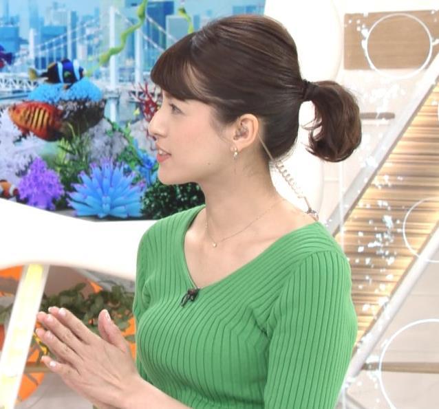 永島優美アナ ニットデカ乳キャプ・エロ画像5