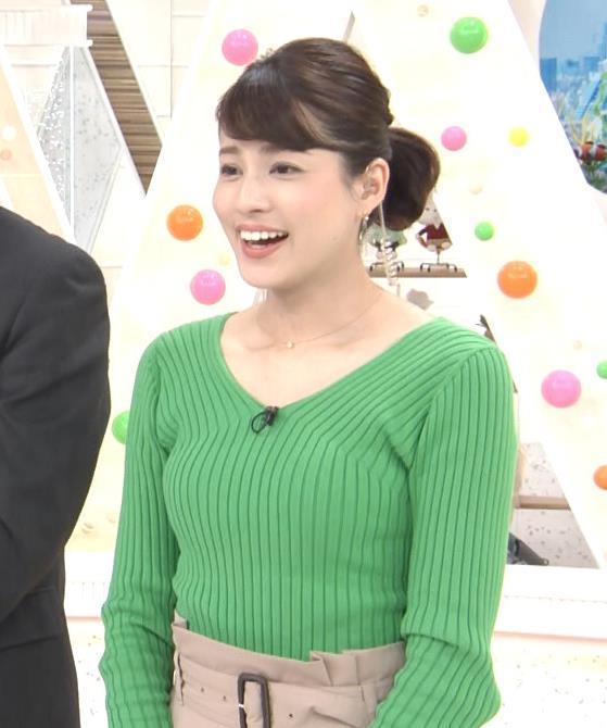 永島優美アナ ニットデカ乳キャプ・エロ画像6