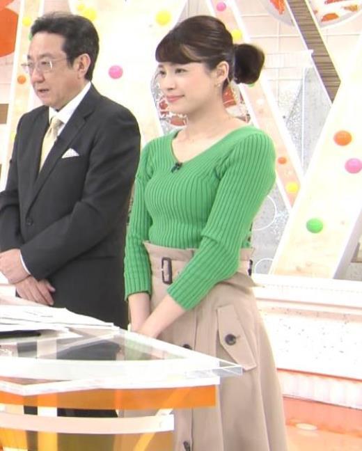 永島優美 ニットデカ乳キャプ画像(エロ・アイコラ画像)