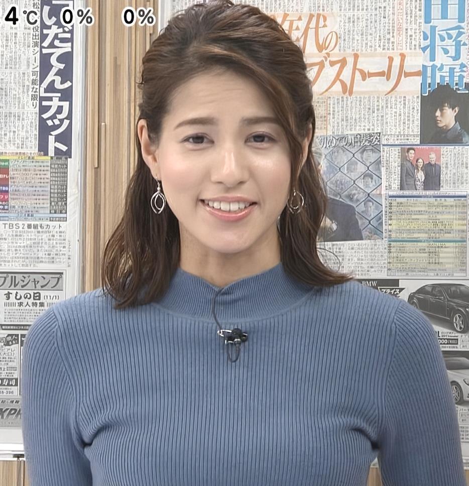 永島優美アナ ピチピチなニットおっぱいキャプ・エロ画像3