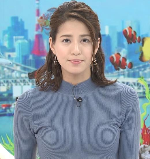 永島優美アナ ピチピチなニットおっぱいキャプ画像(エロ・アイコラ画像)