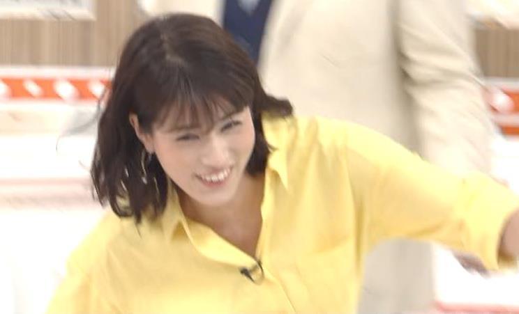 永島優美アナ 前かがみでシャツの中が見えたキャプ・エロ画像4