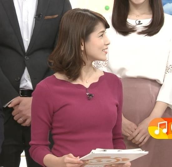 永島優美アナ 最近はタイトは服ばかりきてておっぱいアピールキャプ・エロ画像