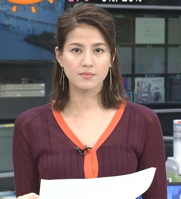 永島優美アナ キャミソールが透けてるキャプ・エロ画像