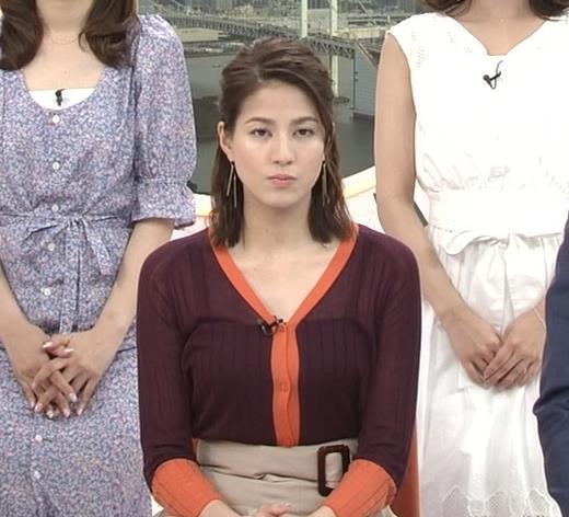 永島優美アナ キャミソールが透けてるキャプ・エロ画像4