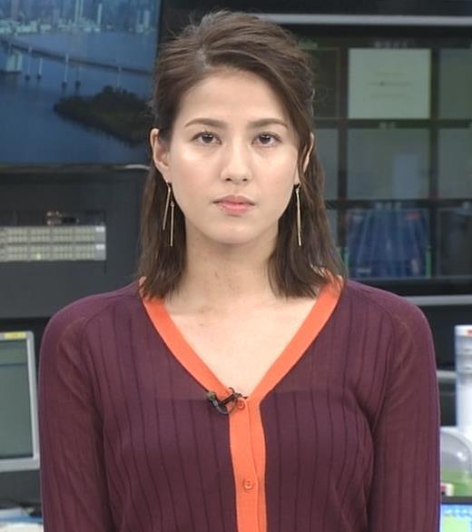 永島優美アナ キャミソールが透けてるキャプ画像(エロ・アイコラ画像)