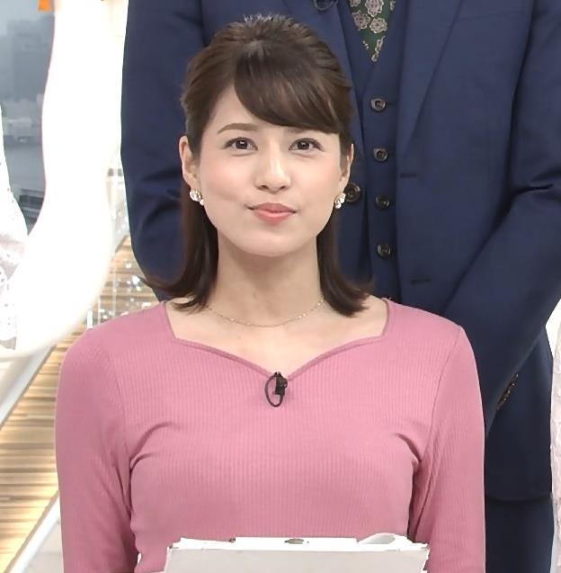 永島優美アナ ピチピチニットの横乳キャプ・エロ画像3