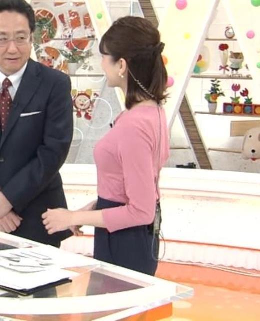永島優美 ピチピチニットの横乳キャプ画像(エロ・アイコラ画像)