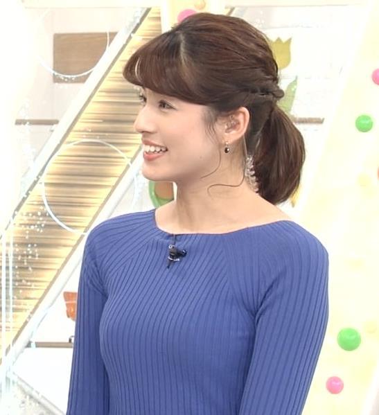 永島優美アナ ニットおっぱい♡肩幅が気になる…?キャプ・エロ画像