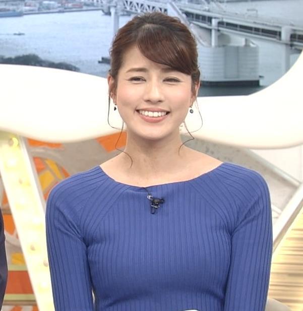 永島優美アナ ニットおっぱい♡肩幅が気になる…?キャプ・エロ画像11