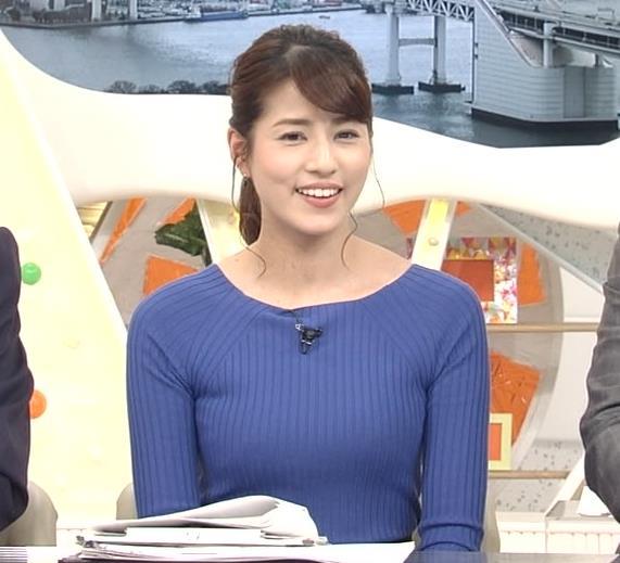 永島優美アナ ニットおっぱい♡肩幅が気になる…?キャプ・エロ画像12
