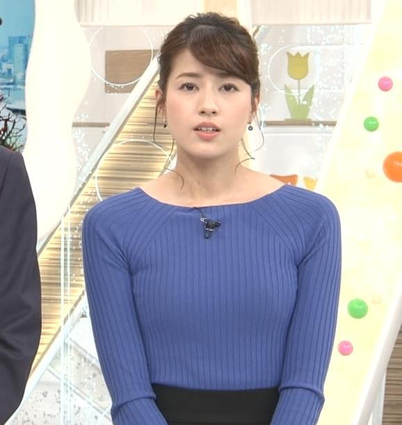永島優美アナ ニットおっぱい♡肩幅が気になる…?キャプ・エロ画像3