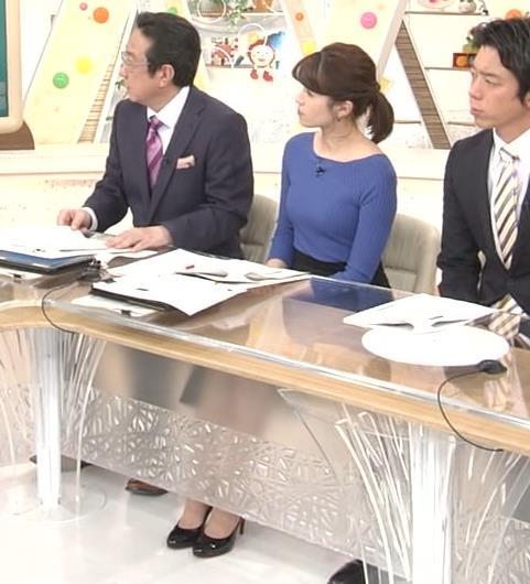 永島優美アナ ニットおっぱい♡肩幅が気になる…?キャプ・エロ画像7