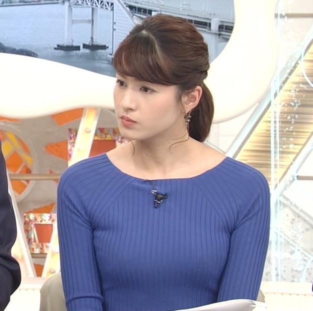 永島優美アナ ニットおっぱい♡肩幅が気になる…?キャプ・エロ画像8