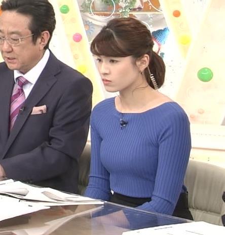 永島優美アナ ニットおっぱい♡肩幅が気になる…?キャプ・エロ画像9