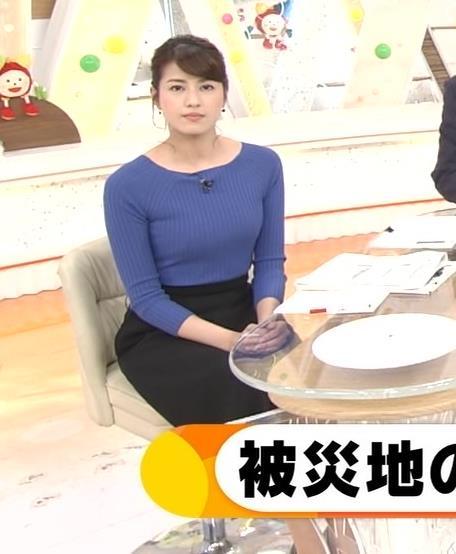 永島優美アナ ニットおっぱい♡肩幅が気になる…?キャプ・エロ画像10