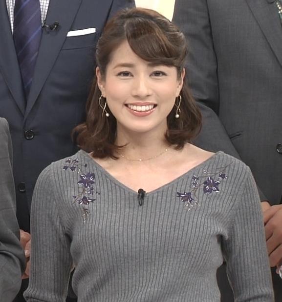永島優美アナ ニットのワンピースの横乳・横尻キャプ・エロ画像2