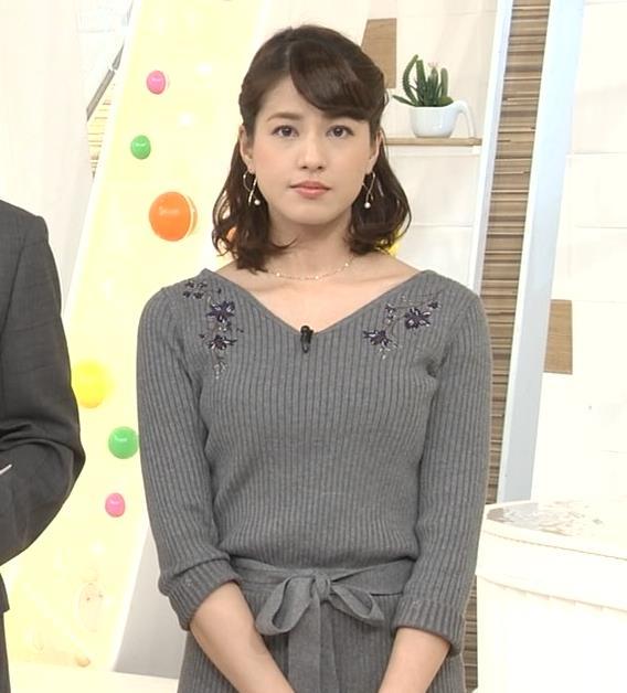 永島優美アナ ニットのワンピースの横乳・横尻キャプ・エロ画像3