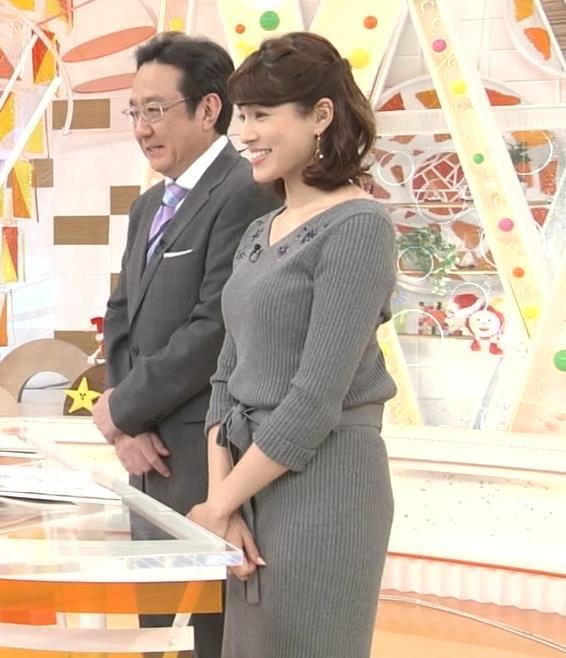 永島優美アナ ニットのワンピースの横乳・横尻キャプ・エロ画像4