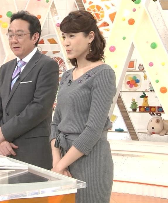 永島優美アナ ニットのワンピースの横乳・横尻キャプ・エロ画像5