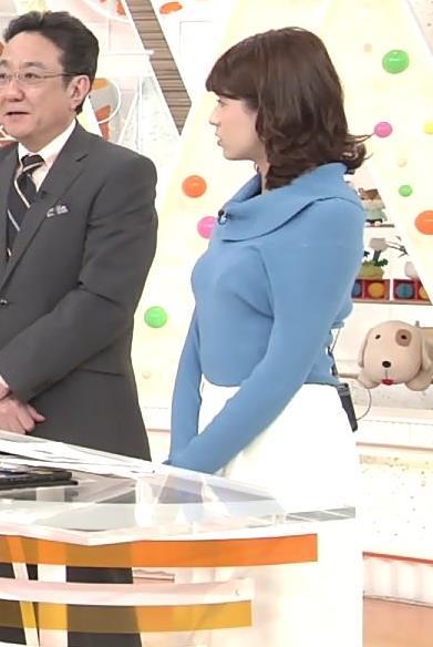 永島優美アナ ゆったりねのニットのほうがおっぱいがエロくない??キャプ・エロ画像