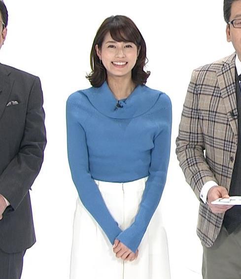 永島優美アナ ゆったりねのニットのほうがおっぱいがエロくない??キャプ・エロ画像12