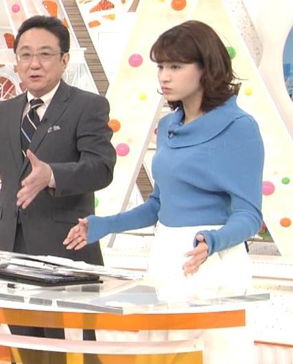 永島優美アナ ゆったりねのニットのほうがおっぱいがエロくない??キャプ・エロ画像4