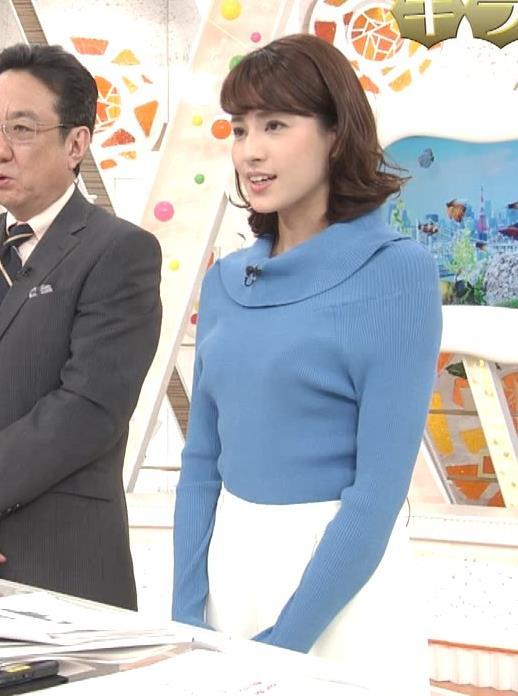 永島優美アナ ゆったりねのニットのほうがおっぱいがエロくない??キャプ・エロ画像6